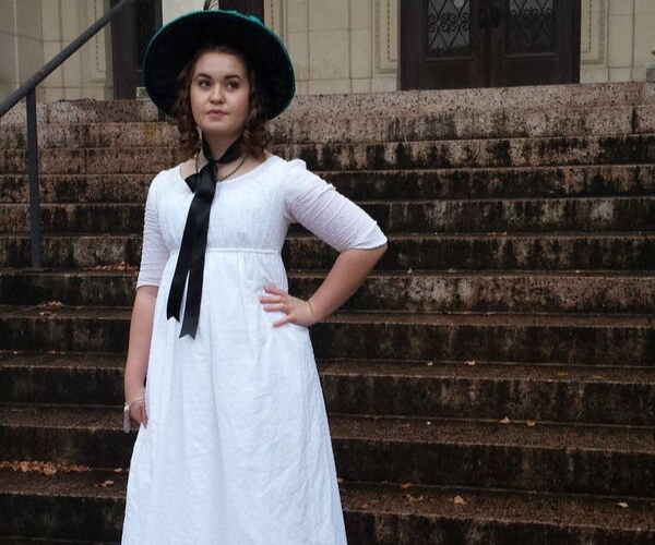 Regency Elizabeth Bennet Dress from Bookish Etsy Costumes | bookriot.com