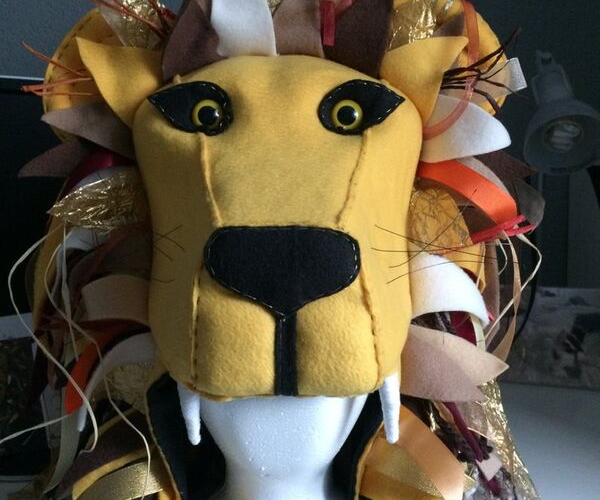 Luna Lovegood Lion Headdress from Bookish Etsy Costumes | bookriot.com