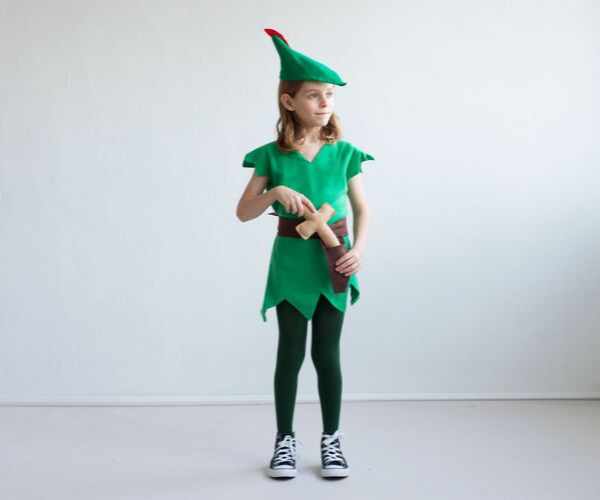 Peter Pan Costume from Bookish Etsy Costumes | bookriot.com