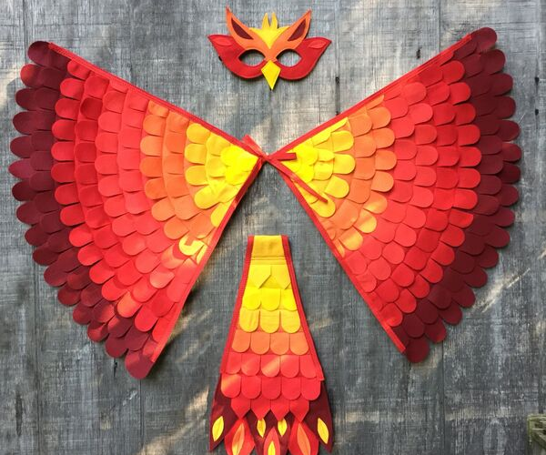 Fawkes Phoenix Costume from Bookish Etsy Costumes | bookriot.com