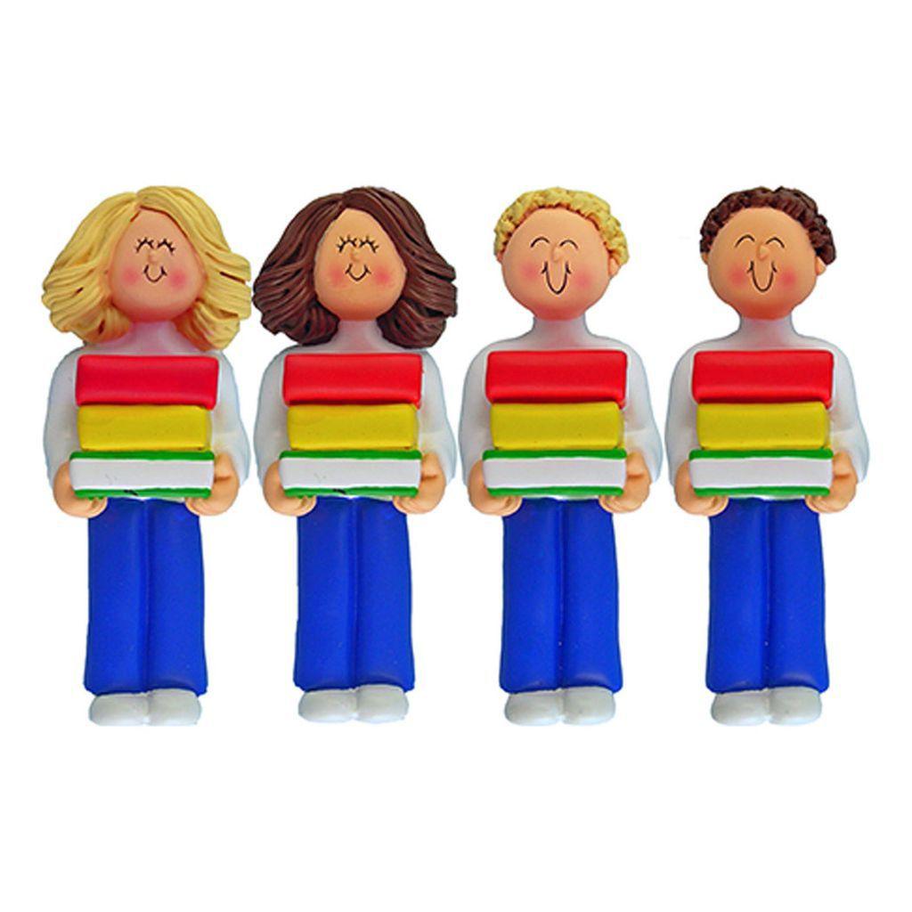 customizable book club ornaments - figurines