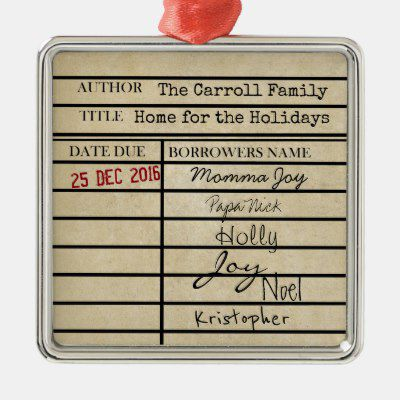 customizable family due date card ornament