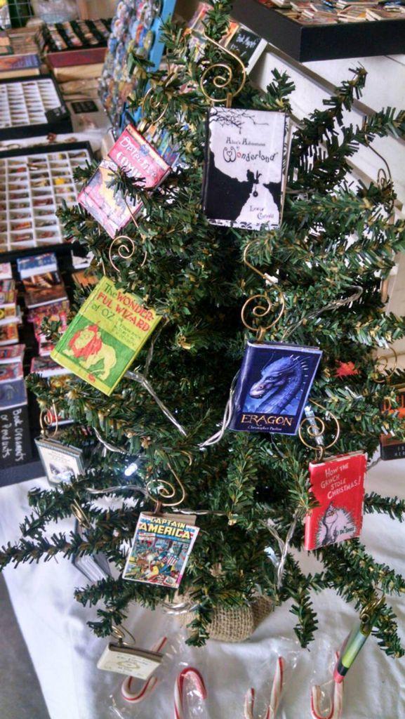 customizable mini-book ornaments