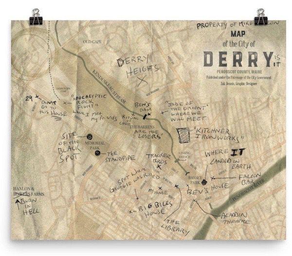 Derry Map Print