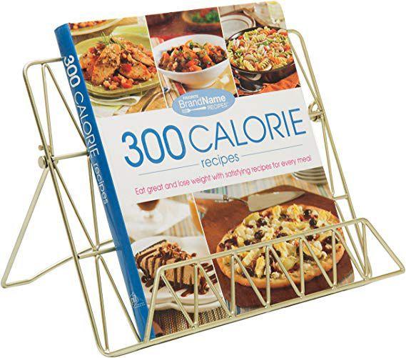 Gold cookbook stand