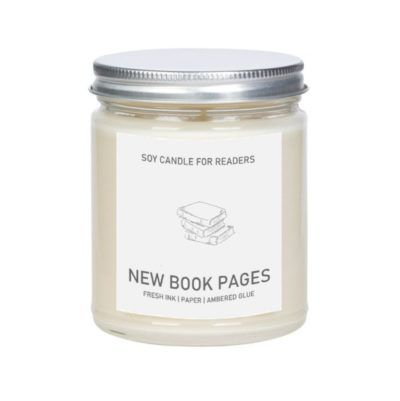 new book pages candle