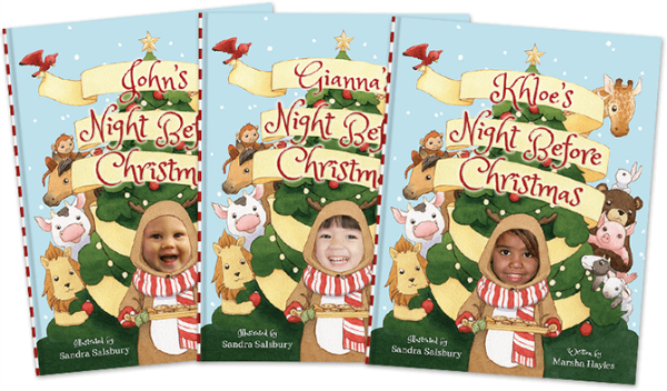 Night Before Christmas Personalized Kids Book
