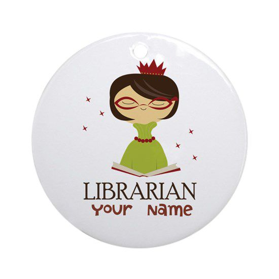 personalized librarian ornament