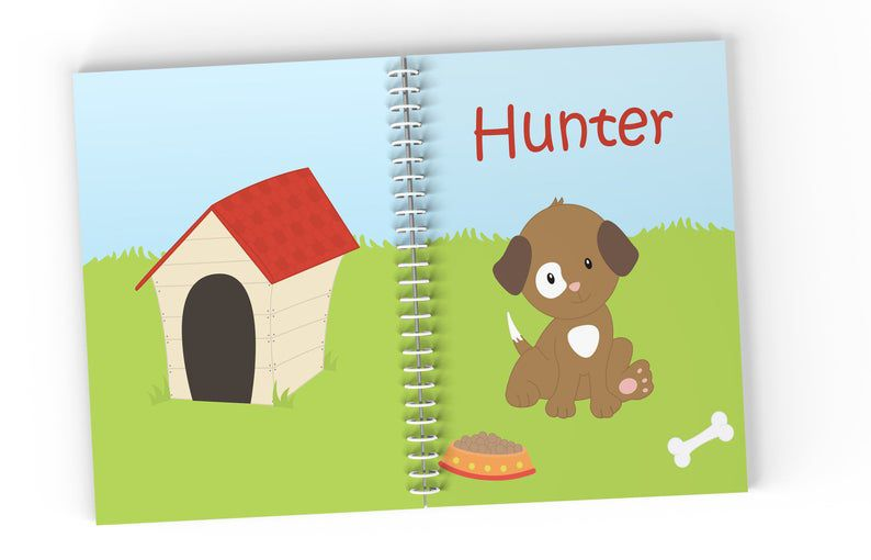 Puppy personalized notebook