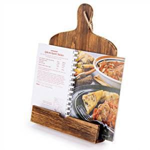 Wooden cookbook stand