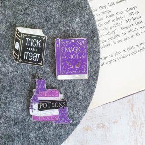 Spooky Books Enamel Pins