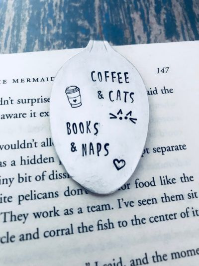 coffee and cats bookmark