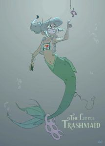 The Little Trashmaid from SFF Webcomics for Halloween | bookriot.com