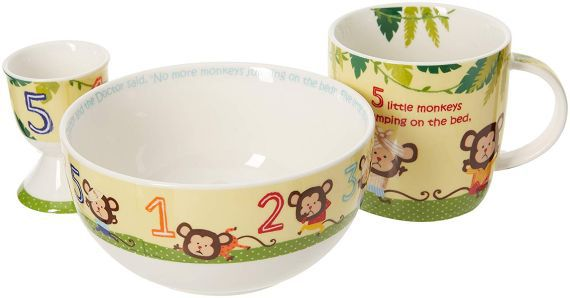 5 Little Monkeys China Breakfast Set