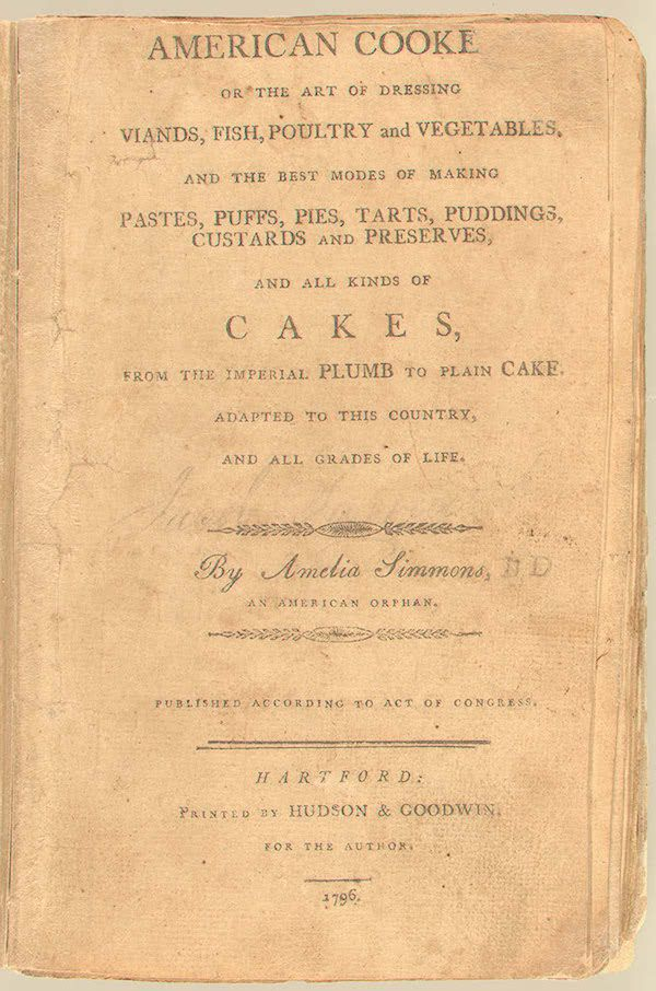American Cookery 1st Edition