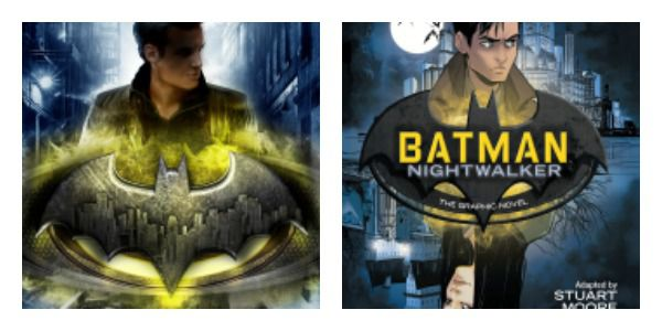 Batman: Nightwalker adaptation side-by-side covers
