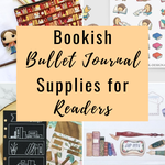 Bookish bullet journal supplies for readers