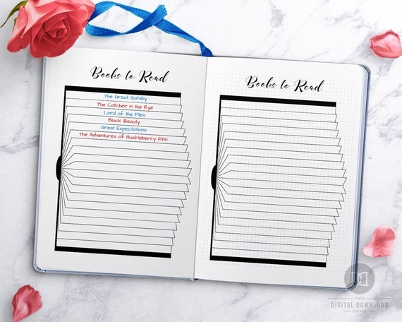 Books To Read Bullet Journal Printable