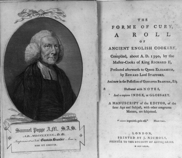 Forme of Cury First English Cookbook