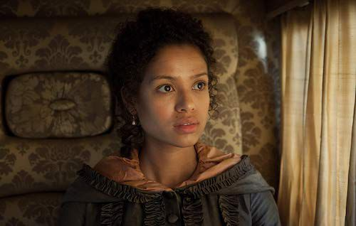 Gugu Mbatha-Raw as Belle in the movie Belle