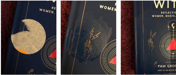 How to remove stickers from books