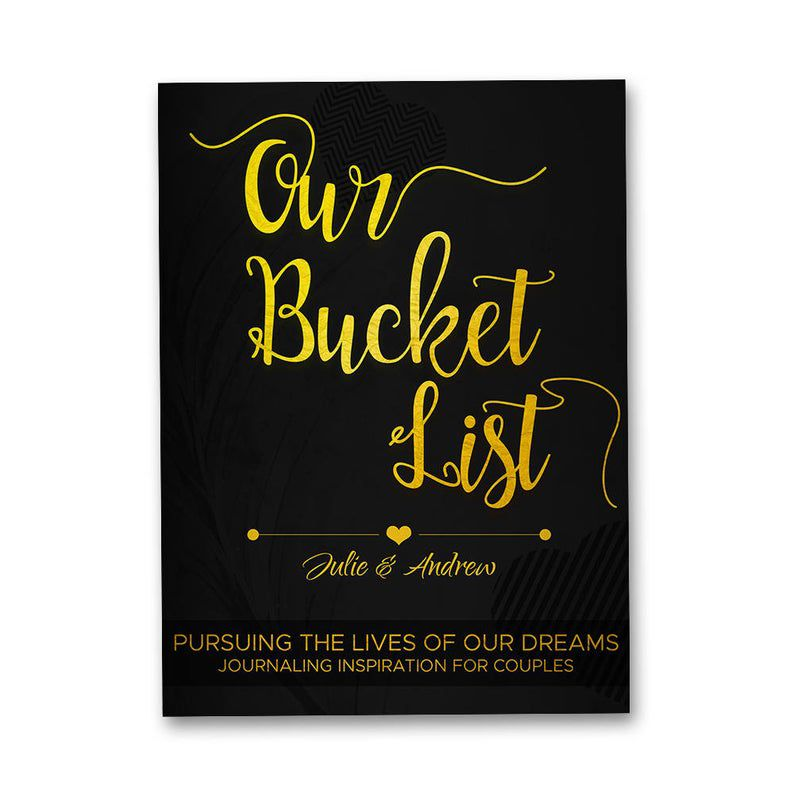 Personalized Bucket List Book