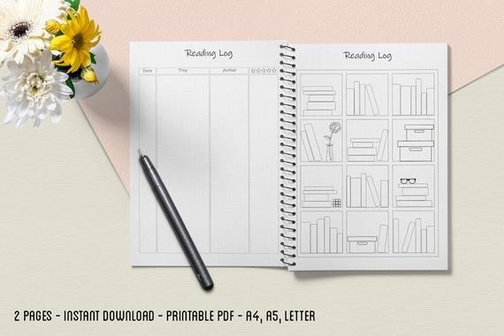 bullet journal reading log printable
