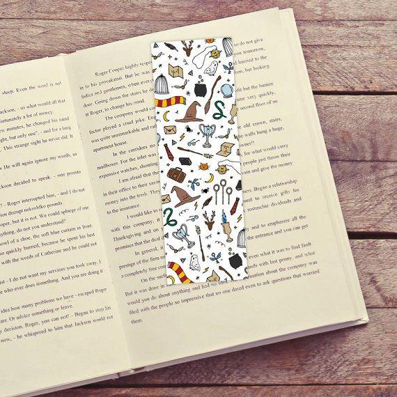 harry potter symbols bookmark