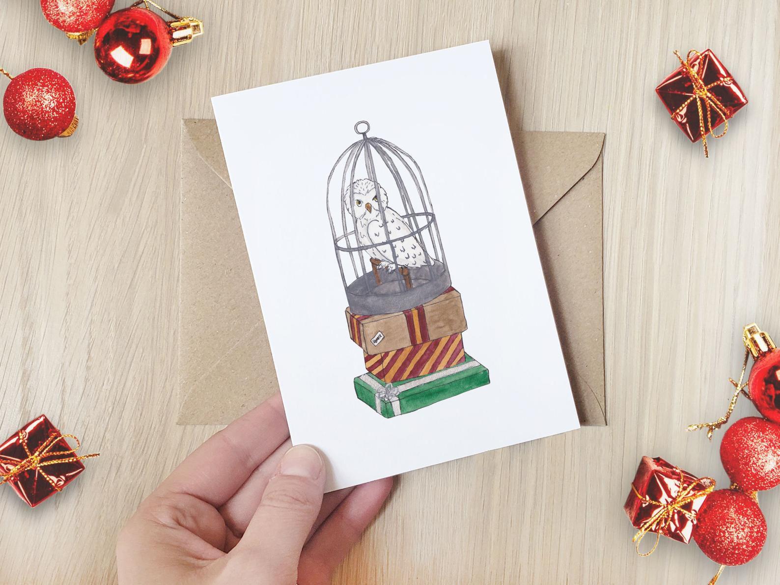 Hedwig Holiday Card