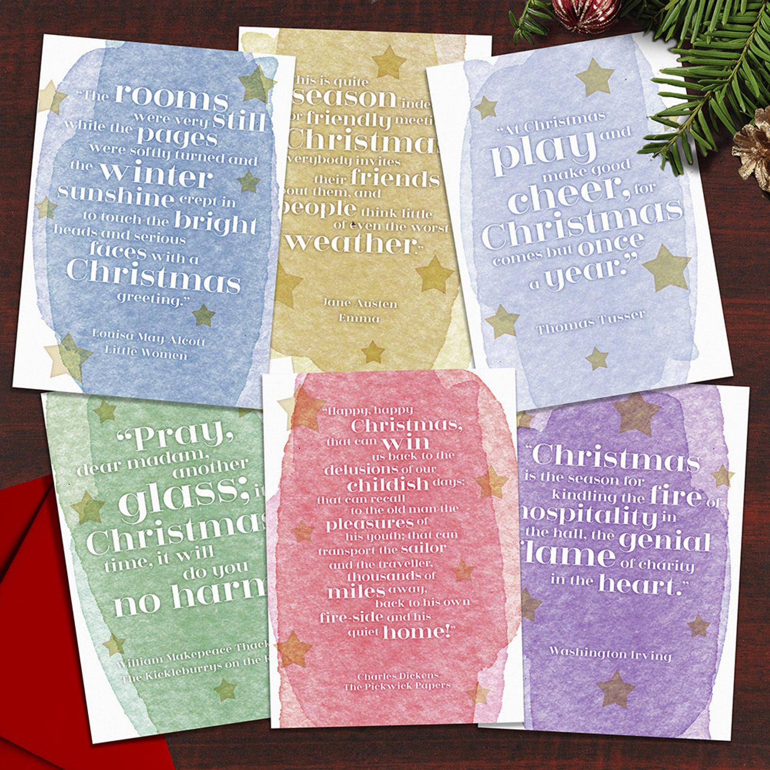 Literary Christmas Quotes Card Set