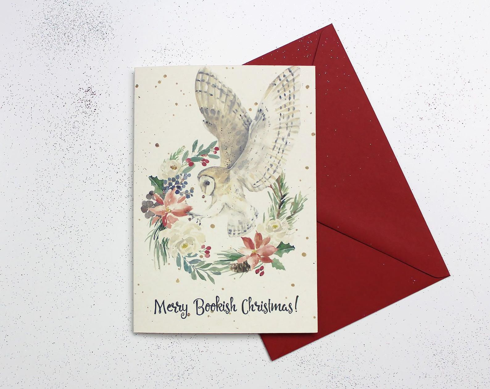 Merry Bookish Christmas Card