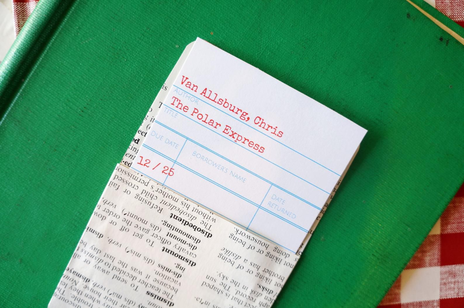 Polar Express Christmas Library Card