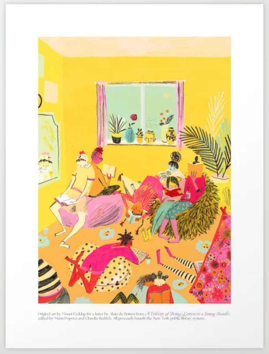 Reading Party Art Print