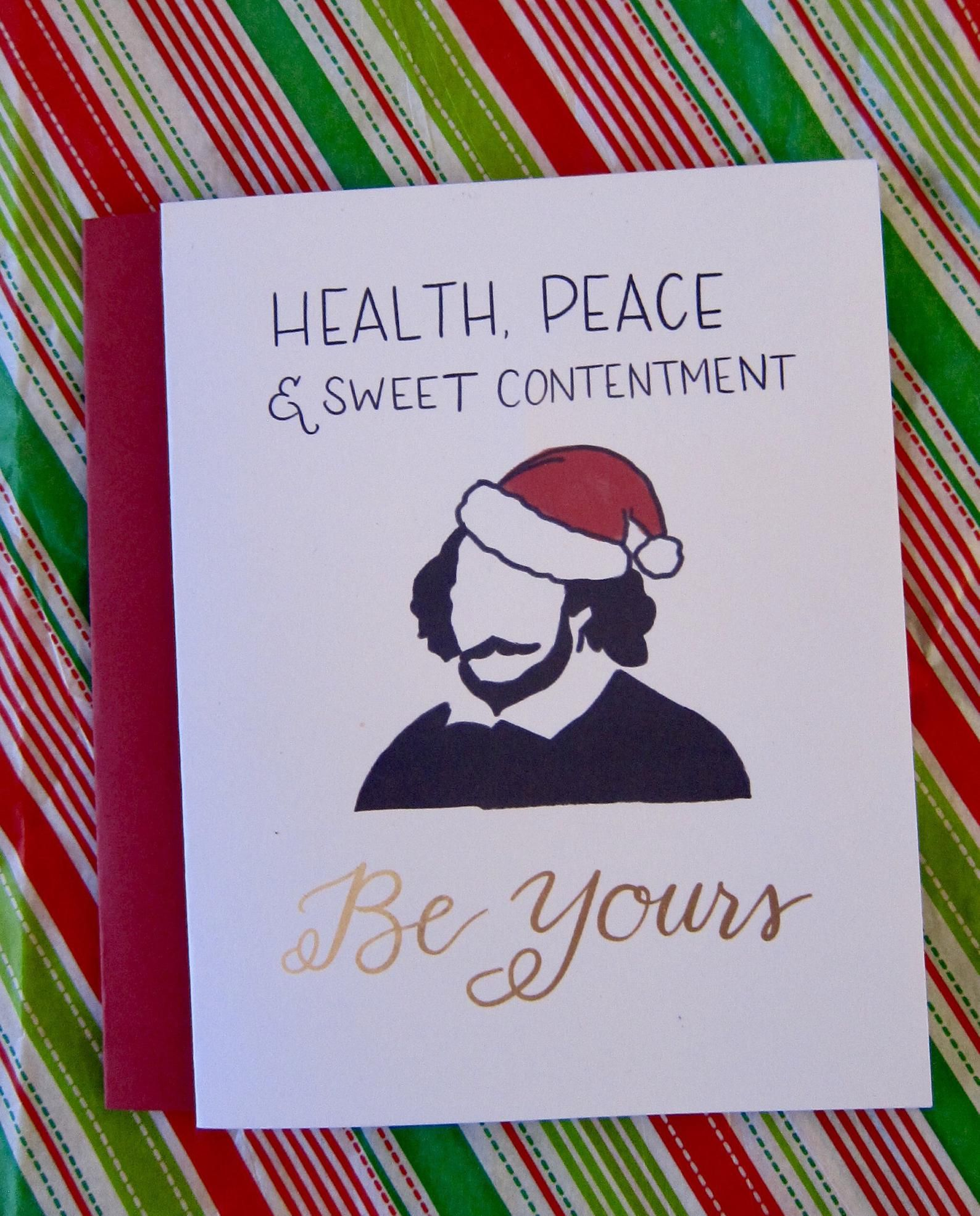 Shakespeare Christmas Card