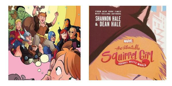 Squirrel Girl adaptations - side-by-side covers