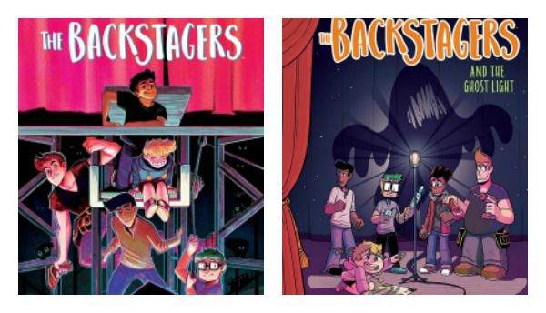 The Backstagers adaptations side-by-side covers
