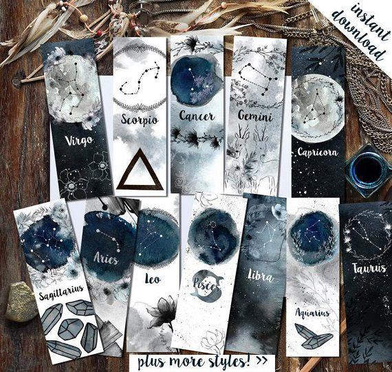 zodiac sign bookmarks
