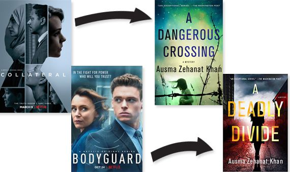 Collateral and Bodyguard posters A Dangerous Crossing A Deadly Divide cover image