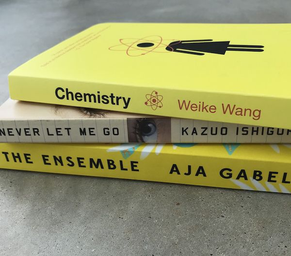 Read More Asian American Authors-Chemistry book-Never Let Me Go book-The Ensemble book