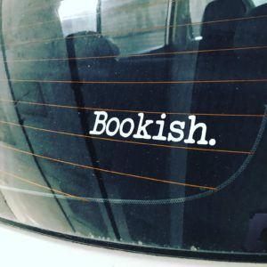 Bookish car decal