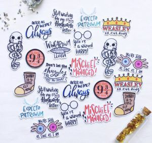 assorted Harry Potter stickers