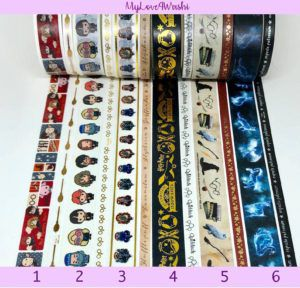 a variety of Harry Potter washi tape