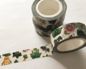 washi tape with magical plants
