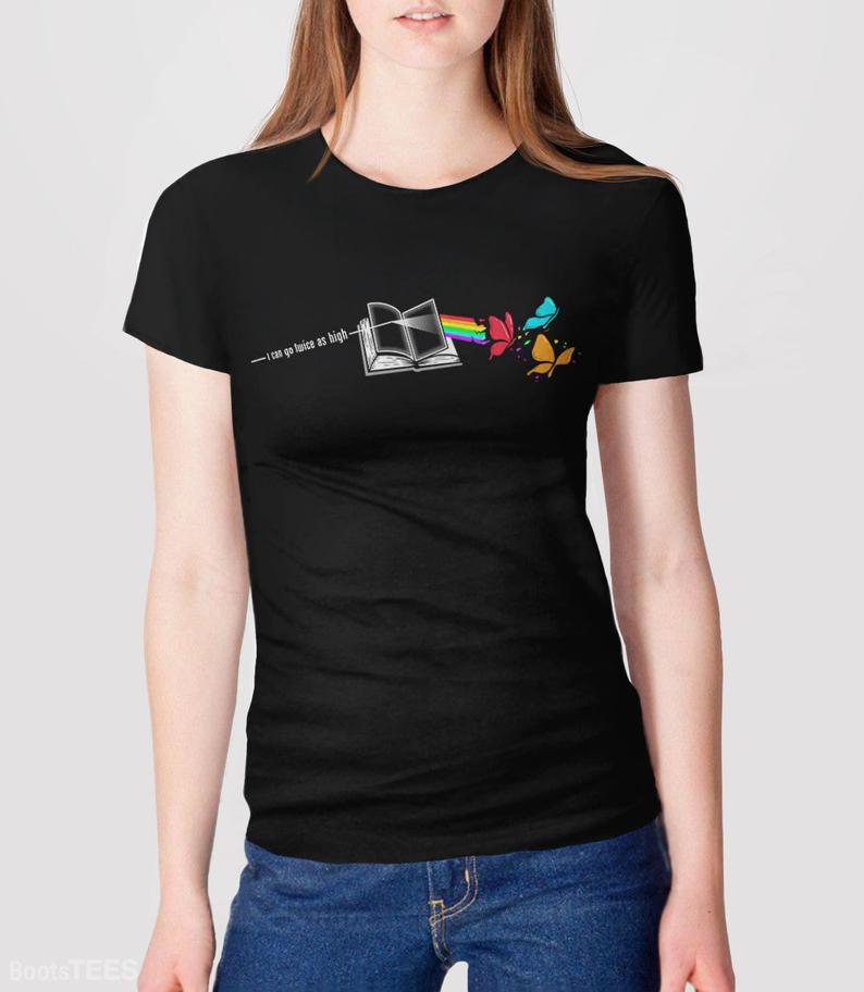 I can go twice as high reading rainbow shirt