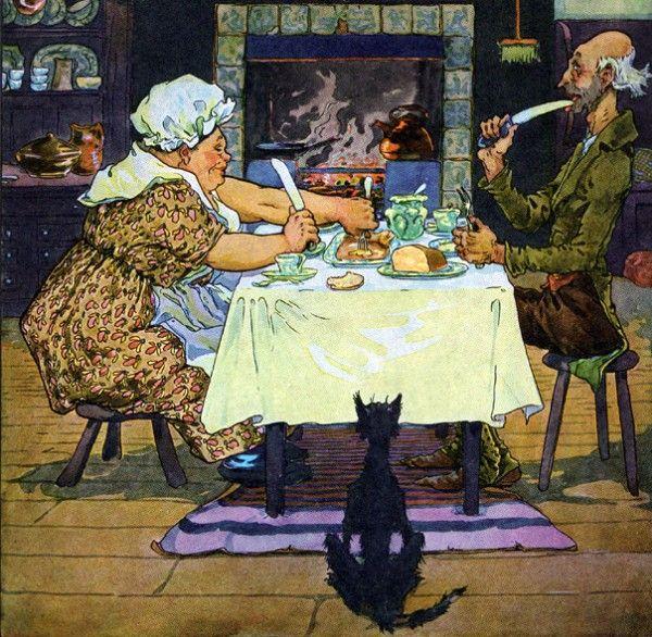 Source: https://en.wikipedia.org/wiki/Jack_Sprat#/media/File:Jack_Sprat_and_his_wife_by_Frederick_Richardson.jpg