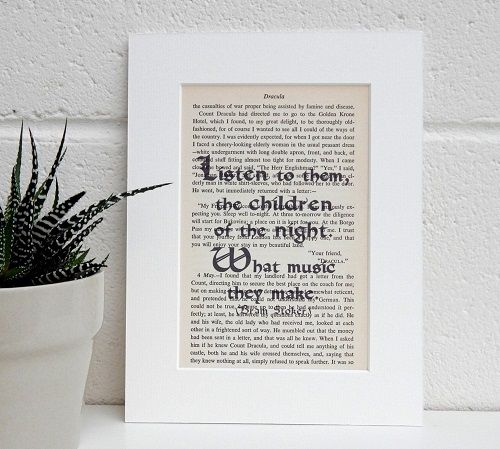 children of the night quote print dracula themed gifts