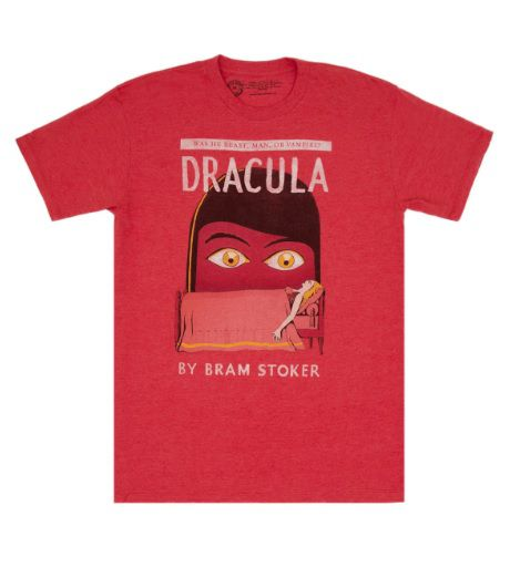book cover t-shirt dracula themed gifts