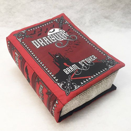 book pillow dracula themed gifts