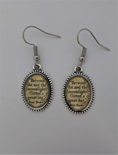 quote earrings dracula themed gifts