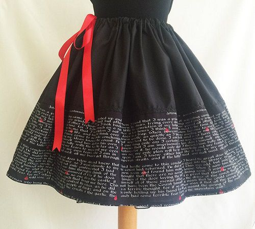 literary skirt dracula themed gifts